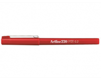 Artline Fineliner  220 rond 0.2mm rood