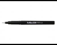 Artline Fineliner  220 rond 0.2mm zwart