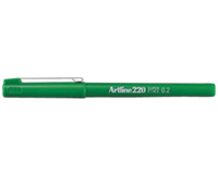 Artline Fineliner  220 rond 0.2mm groen