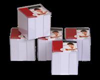 Quantore Memokubus  10x10x10cm transparant met 1000vel
