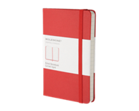 moleskine Notitieboek  pocket 90x140mm lijn rood
