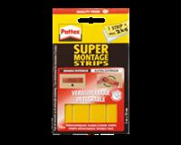 Pattex Montagestrip Non-permanent. geel. 10 strips (pak 10 stuks)