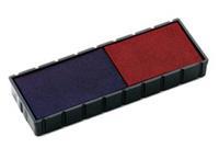 Reserve kussen t.b.v. zelfinktende stempels E/12/2 rood/blauw voor S120/WD (pak 2 stuks)