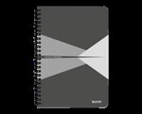 leitz Notitieboek  Office A5 lijn PP grijs
