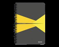 leitz Notitieboek  Office A5 lijn PP geel