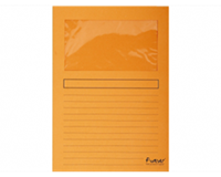 exacompta Insteekmap met venster Forever L-model A4. 120 g/m². oranje (pak 100 stuks)