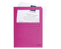exacompta Insteekmap L-model  + venster karton roze