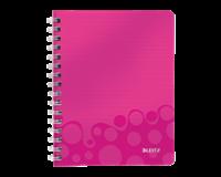 leitz Notitieboek  WOW A5 spiraal PP lijn roze