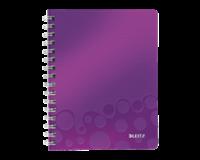leitz Notitieboek  WOW A5 spiraal PP lijn paars