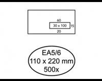 Quantore Envelop  110x220mm venster 3x10cm rechts 500stuks