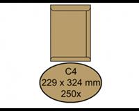 Quantore Envelop  akte C4 229x324mm bruinkraft 250stuks