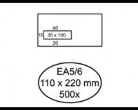Quantore Envelop  110x220mm venster 3x10cm links 500stuks