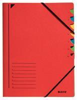 Leitz Sorteermap  3907 7-delig karton rood