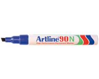 Artline Viltstift  90 schuin blauw 2-5mm