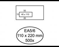 hermes Envelop  EA5/6 110x220mm venster 4x11links zelfkl 500
