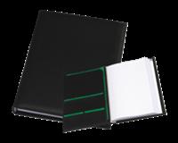 Rillstab Showalbum A4 met opbergvakken en schrijfblok 30 tassen. zwart