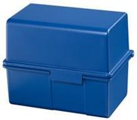 HAN Kaartenbak  breed A6 kunststof blauw