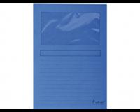 exacompta Insteekmap met venster Forever L-model A4. 120 g/m². donkerblauw (pak 100 stuks)