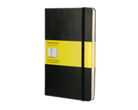 moleskine Notitieboek  large 130x210mm ruit zwart