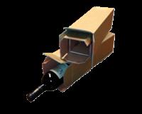 Cleverpack Wijndoos  112x112x355mm karton bruin 3stuks