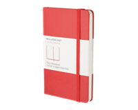moleskine Notitieboek  large 130x210mm blanco rood