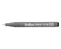 Artline Fineliner  zwart 0.05mm