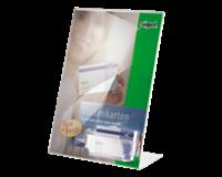 Sigel Tafelstandaard  TA230 A4 staand schuin+visitekaartvakje