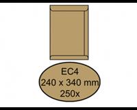 Quantore Envelop  akte EC4 240x340mm bruinkraft 250stuks