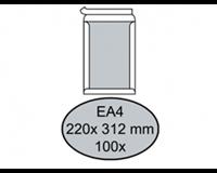 Quantore Envelop  bordrug EA4 220x312mm zelfkl. wit 100stuks