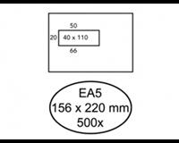 Quantore Envelop  156x220mm venster 4x11cm links 500stuks