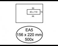 Quantore Envelop  156x220mm venster 4x11cm rechts 500stuks