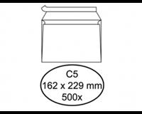 hermes Envelop  bank C5 162x229mm zelfklevend wit 500stuks