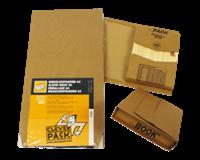 Cleverpack Wikkelverpakking  A4 +zelfkl strip bruin 25stuks