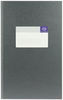 Atlanta Registerboek 205 x 330 mm. 200 blz. grijs. gelijnd (pak 5 blokken)