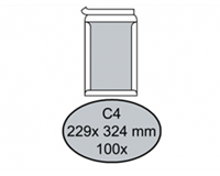 Quantore Envelop  bordrug C4 229x324mm zelfkl. wit 100stuks