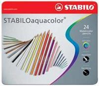 Stabilo Kleurpotloden  aquacolor 1624 blik à 24 kleuren