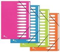 Elba Art Pop sorteermap, ft A4, 12 vakken, uit PP, geassorteerde kleuren