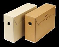 Loeff Citybox zuurvrije archiefdoos ICN 4. 10 jaar of langer. bruin/wit (pak 50 stuks)