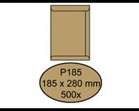 Quantore Envelop  akte P185 185x280mm bruinkraft 500 stuks