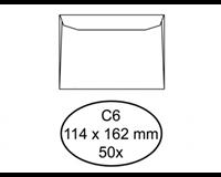 hermes Envelop  bank C6 114x162mm zelfklevend wit 50stuks