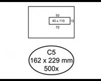 Quantore Envelop  162x229mm venster 4x11cm rechts zelfkl 500s