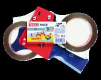 tesa Verpakkingstapedispenser Incl. 2 rollen verpakkingstape (set 3 stuks)