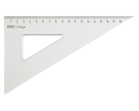 aristo Driehoek  200mm 30/60graden transparant