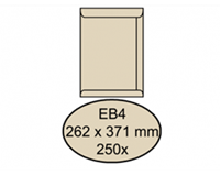 Quantore Envelop  akte EB4 262x371mm cremekraft 250stuks