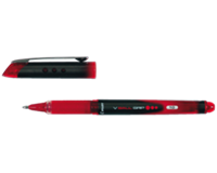 Pilot Rollerpen  V-Ball grip VB10 rood 0.6mm