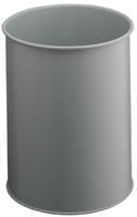 Durable Papierbak economy metaal 15 liter. lichtgrijs. hoogte 31.5 cm