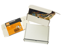 Cleverpack Postpakket  golfkarton 330x300x80mm wit 25stuks