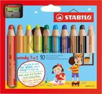 Stabilo kleurpotlood Woody 3 in 1