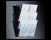 Folderhouder Sigel LH137 3x1/3 wand transparant