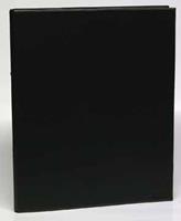 Aurora Ringmap voor ft A4, 2 ringen van 25 mm, uit PVC, zwart